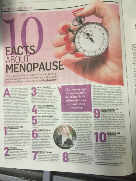 10 things to know about menopause