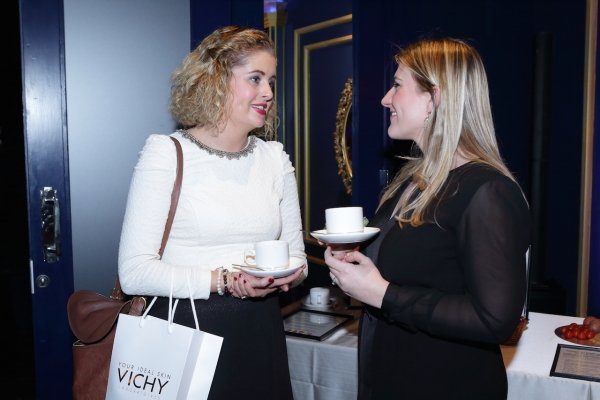 Talking Vichy at the G Hotel for the launch of Neovadiol Compensating Complex