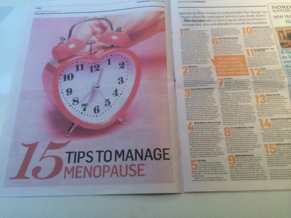 15 Tips on how to manage the menopause