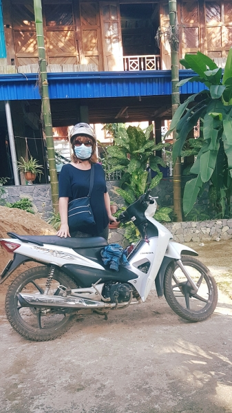 Travelling to and from the volunteer's office by motorbike